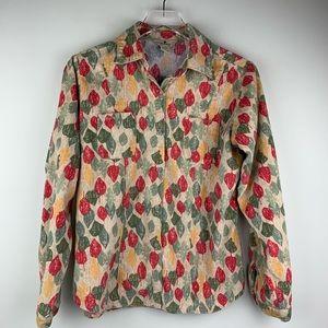 Woolrich Fall Leaves Button Down Small Shirt